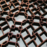 Laser Cut Valchromat (Fabricated MDF) Close Up 2