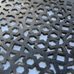 Laser Cut Mild Steel Close Up
