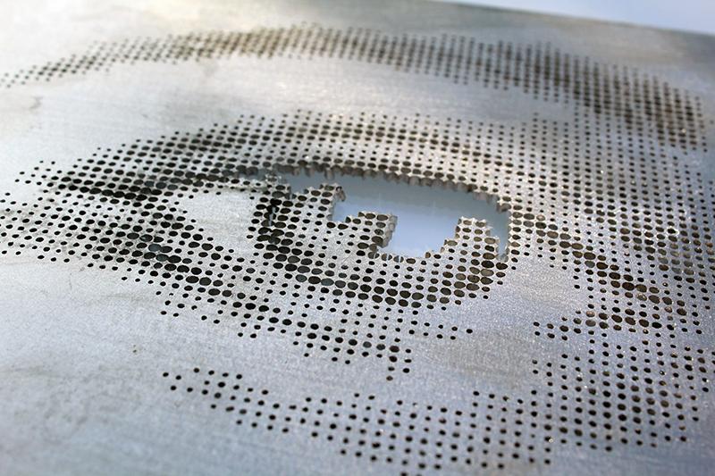Laser Cut Aluminium