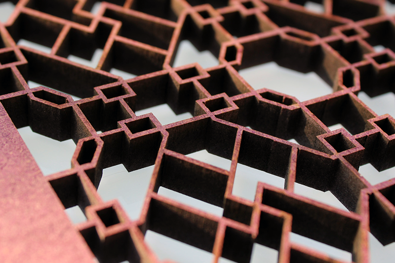 Laser Cut Valchromat (Fabricated MDF)